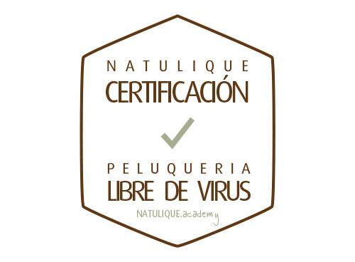 NATULIQUE Certificación Peluquería Libre de Virus